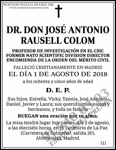 José Antonio Rausell Colom